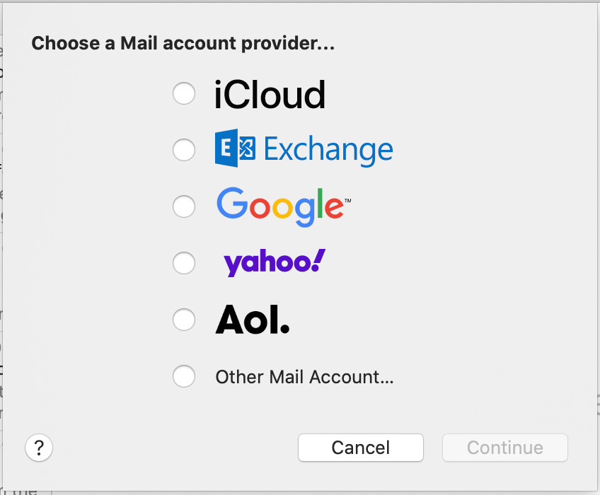 What is the default program on macOS that handles mail