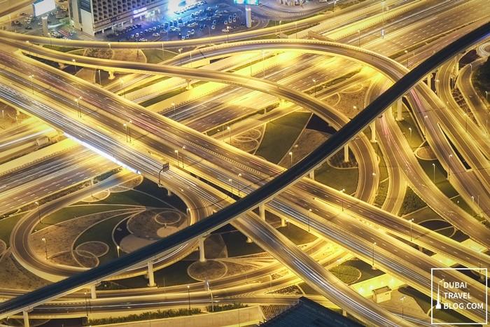 dubai roads at night
