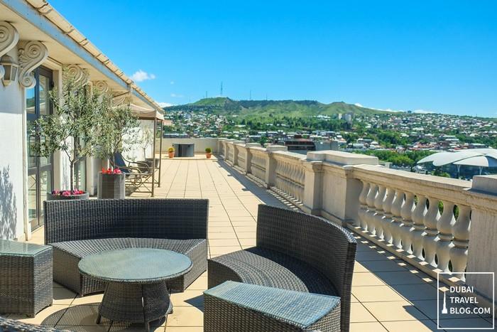 presidential suite terrace area tblisi marriott hotel