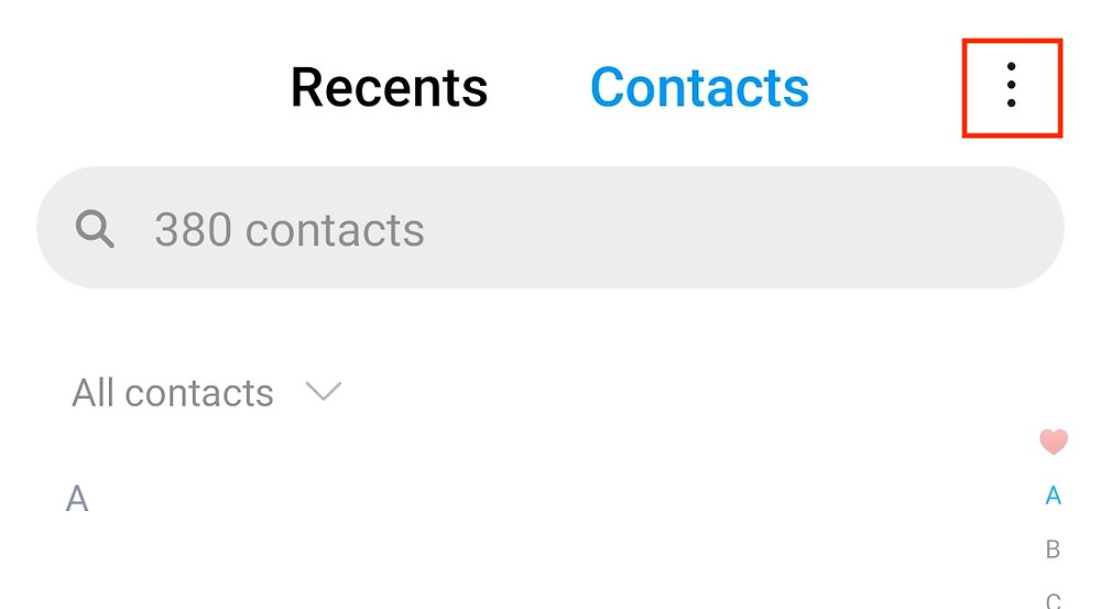 export contacts on android