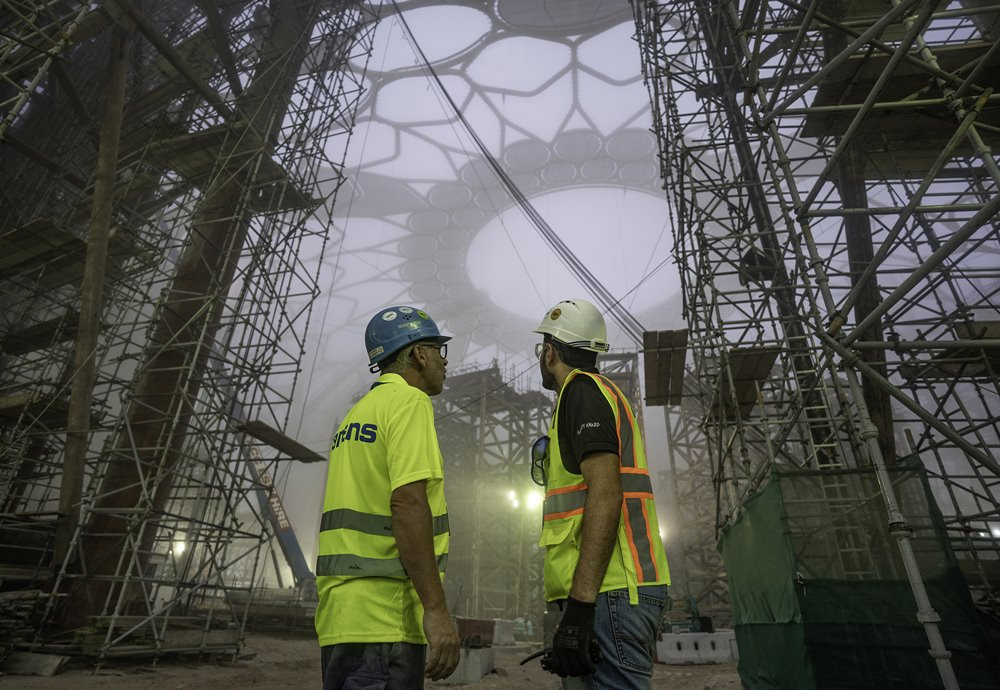 Al Wasl Dome construction