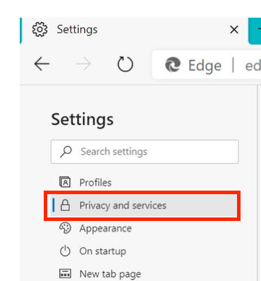clear the cache on Microsoft Edge