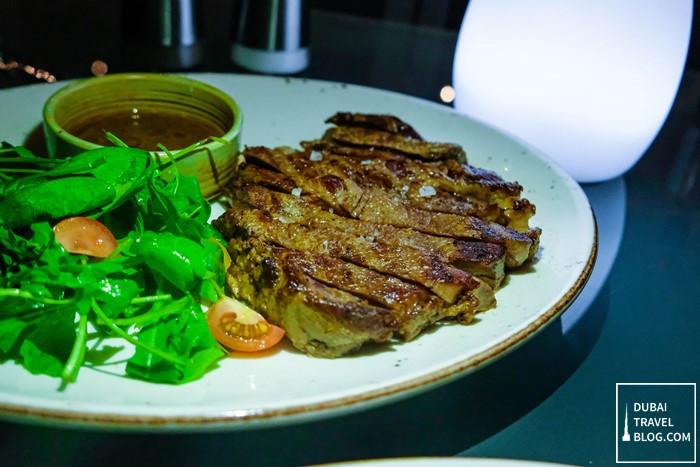 ribeye steak hi five lounge dubai