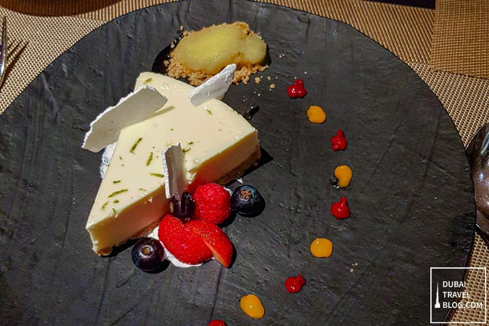 eat and meat lime cheesecake