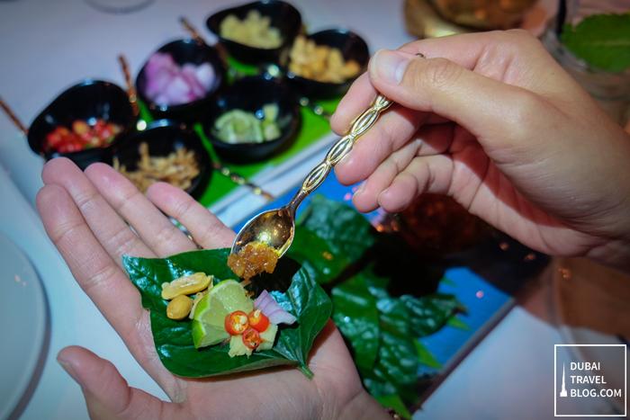 Mieng kham thai food
