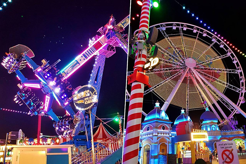 exciting rides at carnaval global village