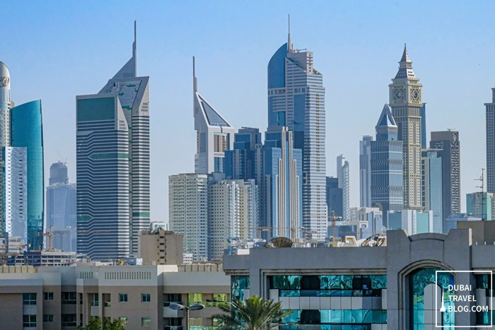 sheikh zayed buildings zoomed view
