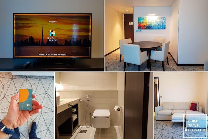 hyatt place jumeirah living area suite