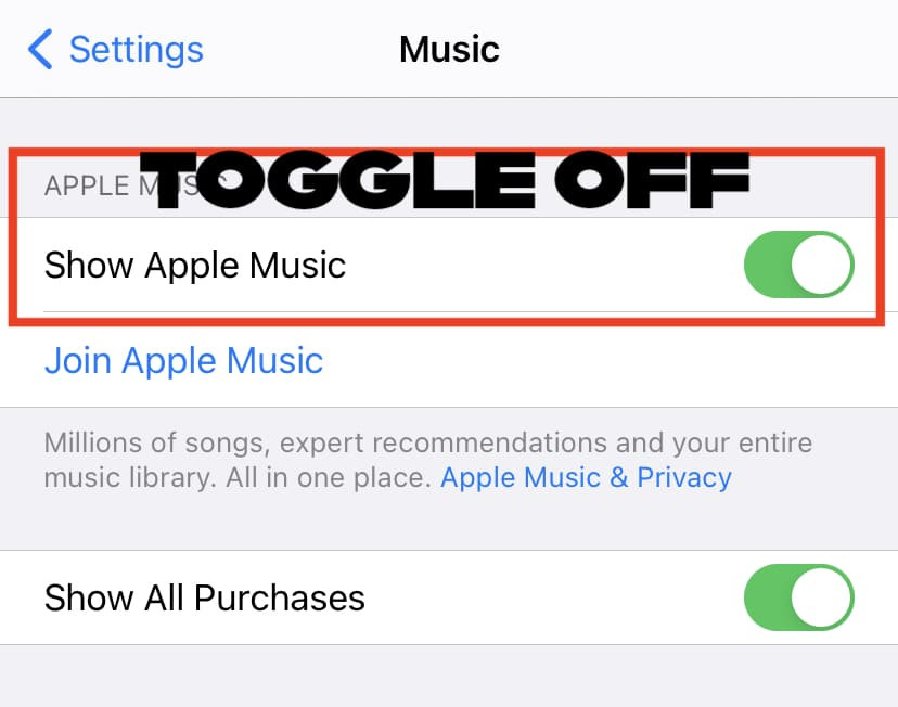 how to get rid of apple music on iPhone
