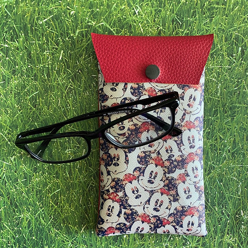 Minnie Mouse Faux Leather Soft Eyeglass Case