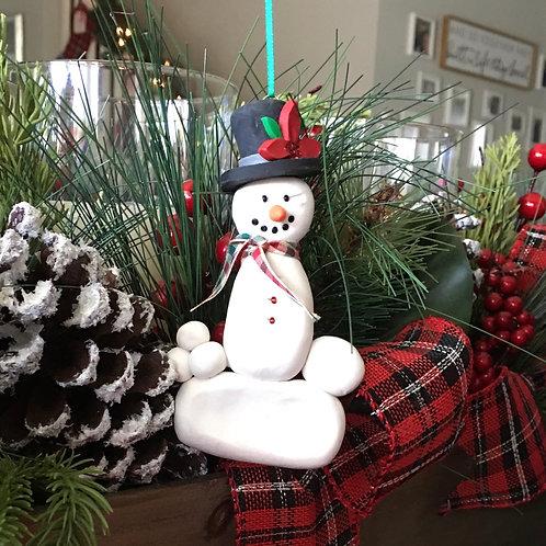 Top Hat Snowman Ornament