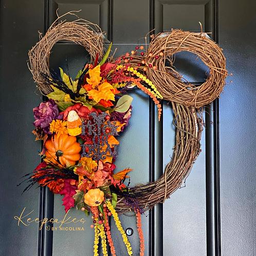 Mickeys Halloween Harvest Wreath