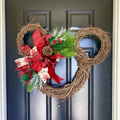 Mickey Christmas Holiday Wreath