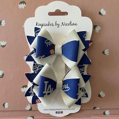 Dodgers Hair Bow