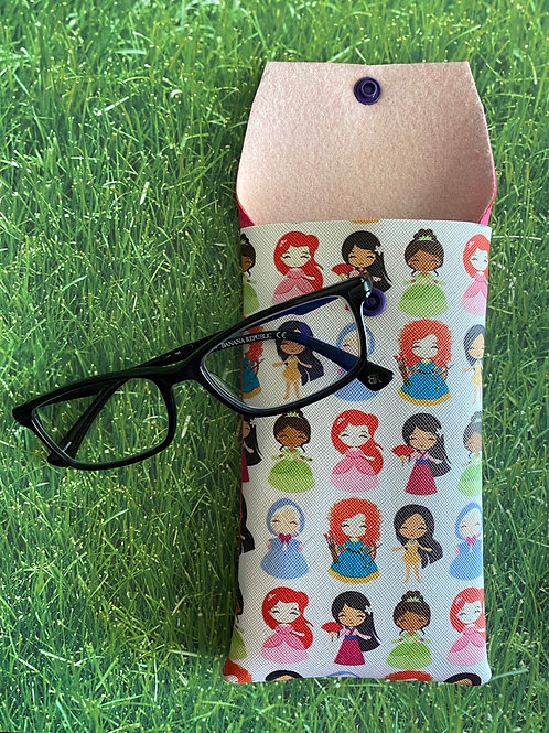 Princess Faux Leather Soft Eyeglass Case