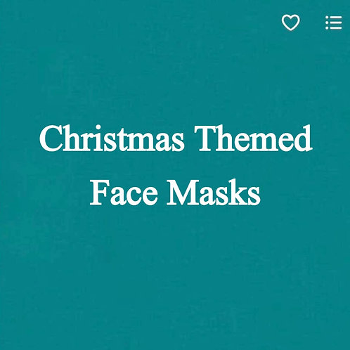 Christmas Themed Face Masks