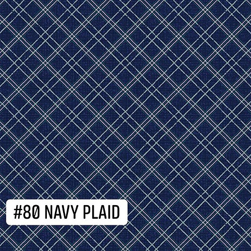 Navy Plaid Face Mask