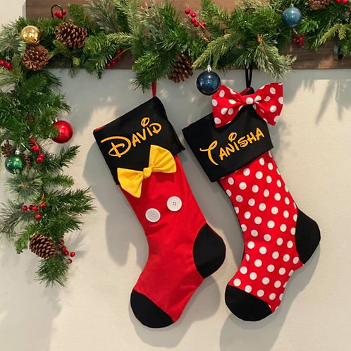 Mickey & Minnie Mouse Stockings