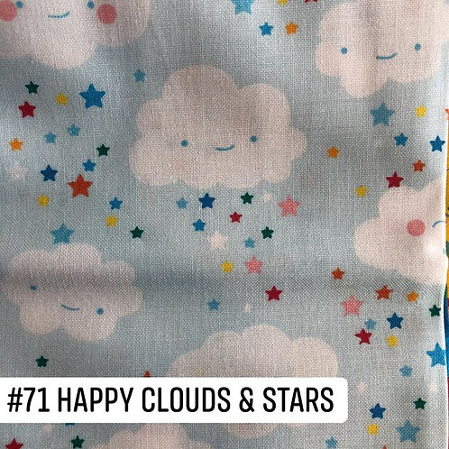 Happy Clouds and Stars Face Mask