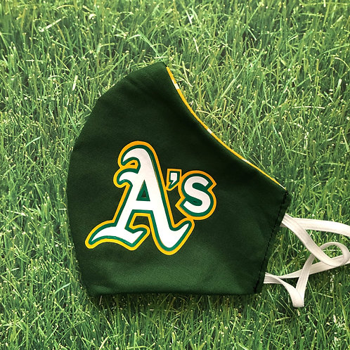 A's Logo Face Mask