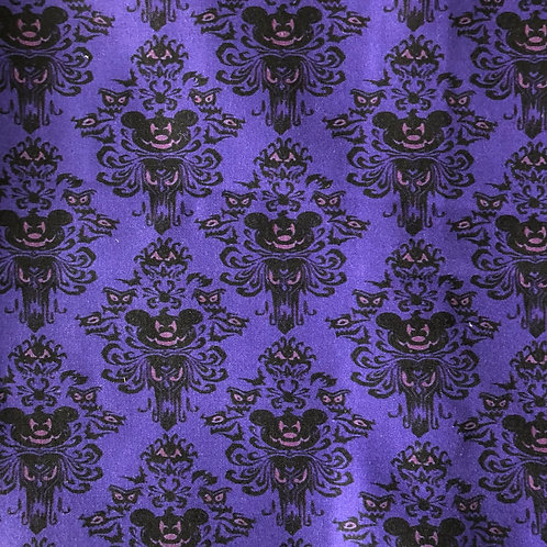 Mickey Haunted Mansion (Purple) Face Mask