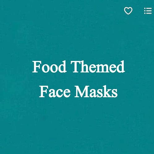 Food Themed Face Masks