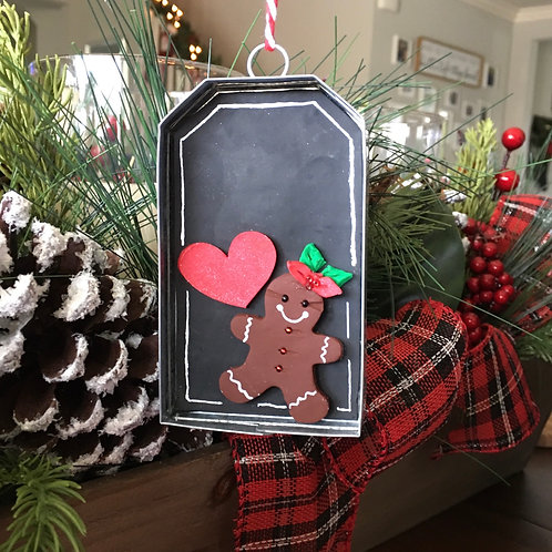 Gingerbread Gift Tag Ornament