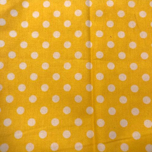 Yellow Polka Dots Face Mask