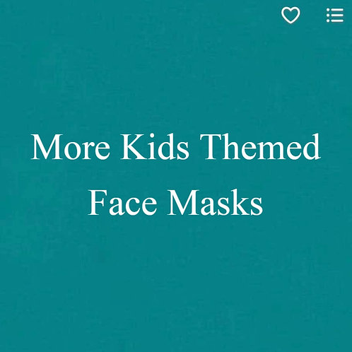 Kids (2) Themed Face Masks