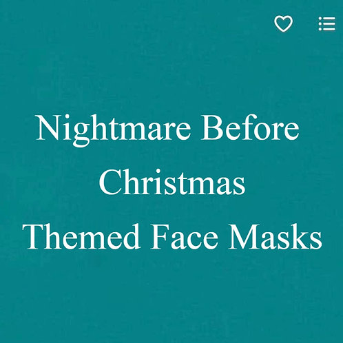Nightmare Before Christmas Themed Face Mask