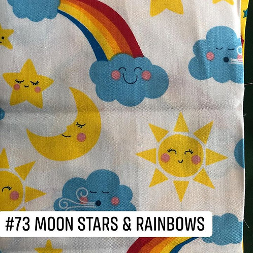 Moon Stars and Rainbows Face Mask