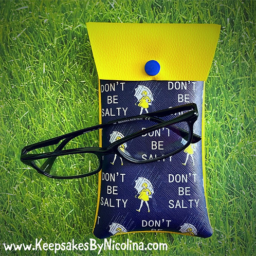 Don't Be Salty Faux Leather Soft Eyeglass Case