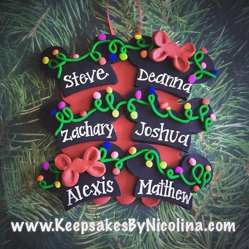 Family Mickey Ears Ornament