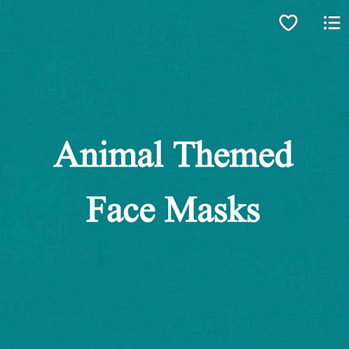 Animal (2) Themed Face Masks
