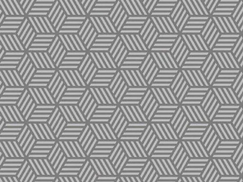 Gray Hexagons Geometric Face Mask