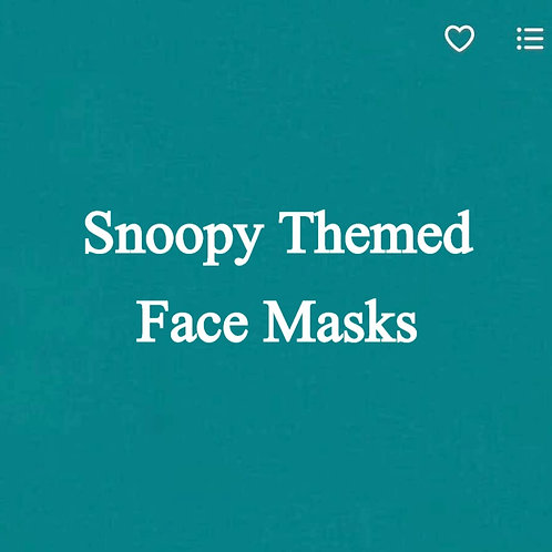 Snoopy/Peanuts Themed Face Masks
