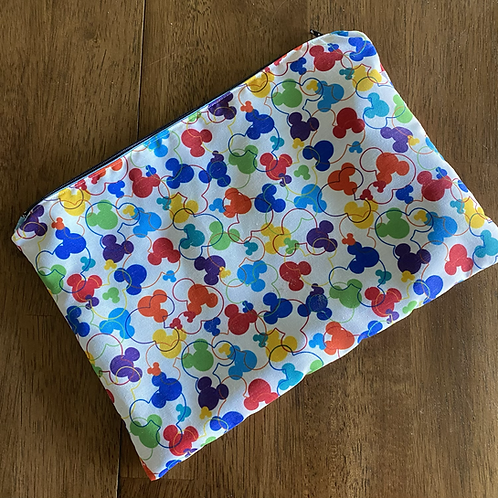 Rainbow Mickey Makeup Bag