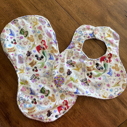 Burp Cloth and Bib