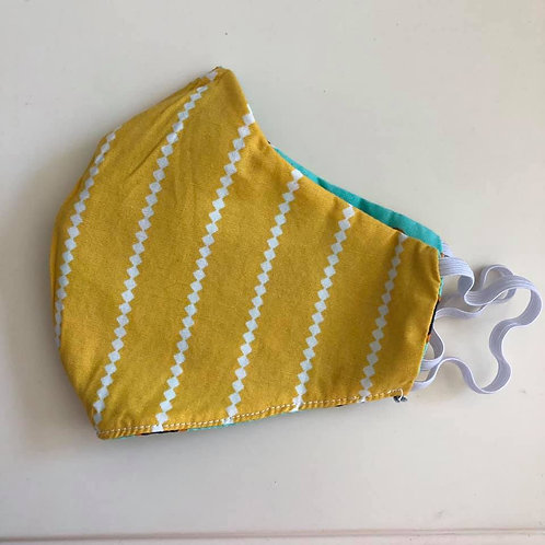 Yellow Stripes Face Mask