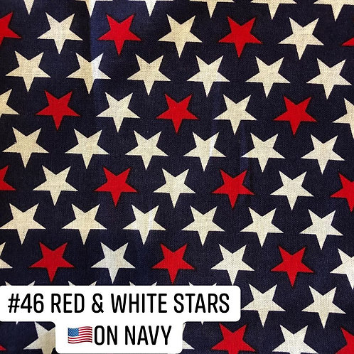Red and White Stars on Navy Face Mask