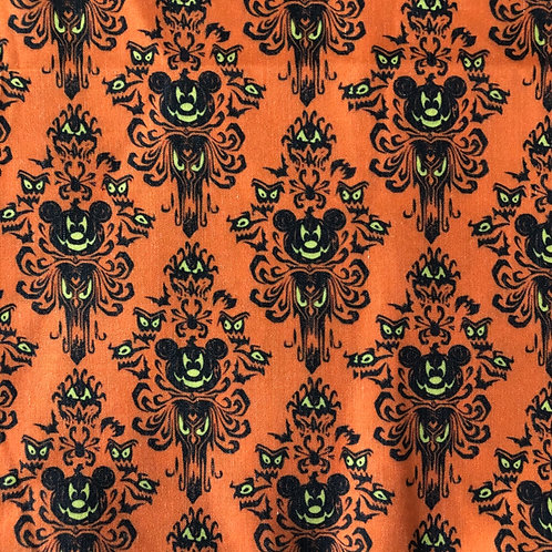 Mickey Haunted Mansion (Orange) Face Mask