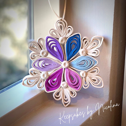 Snowflake Quilling Ornament