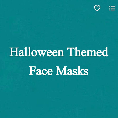 Halloween Themed Face Masks