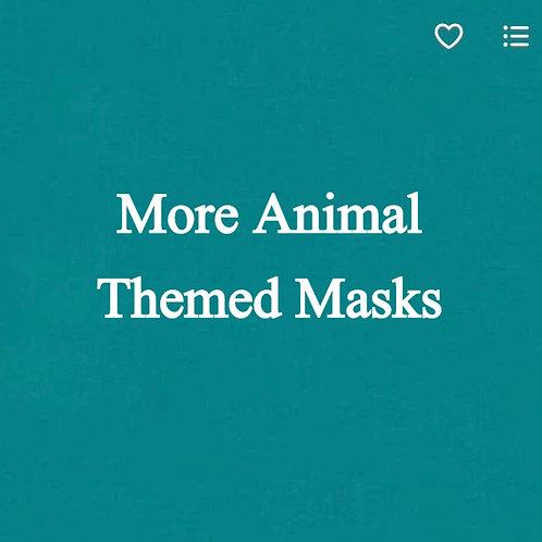 Animal (1) Themed Face Masks