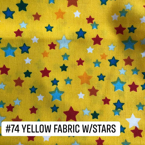Yellow with Stars Face Mask