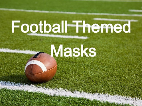Football Themed Face Masks