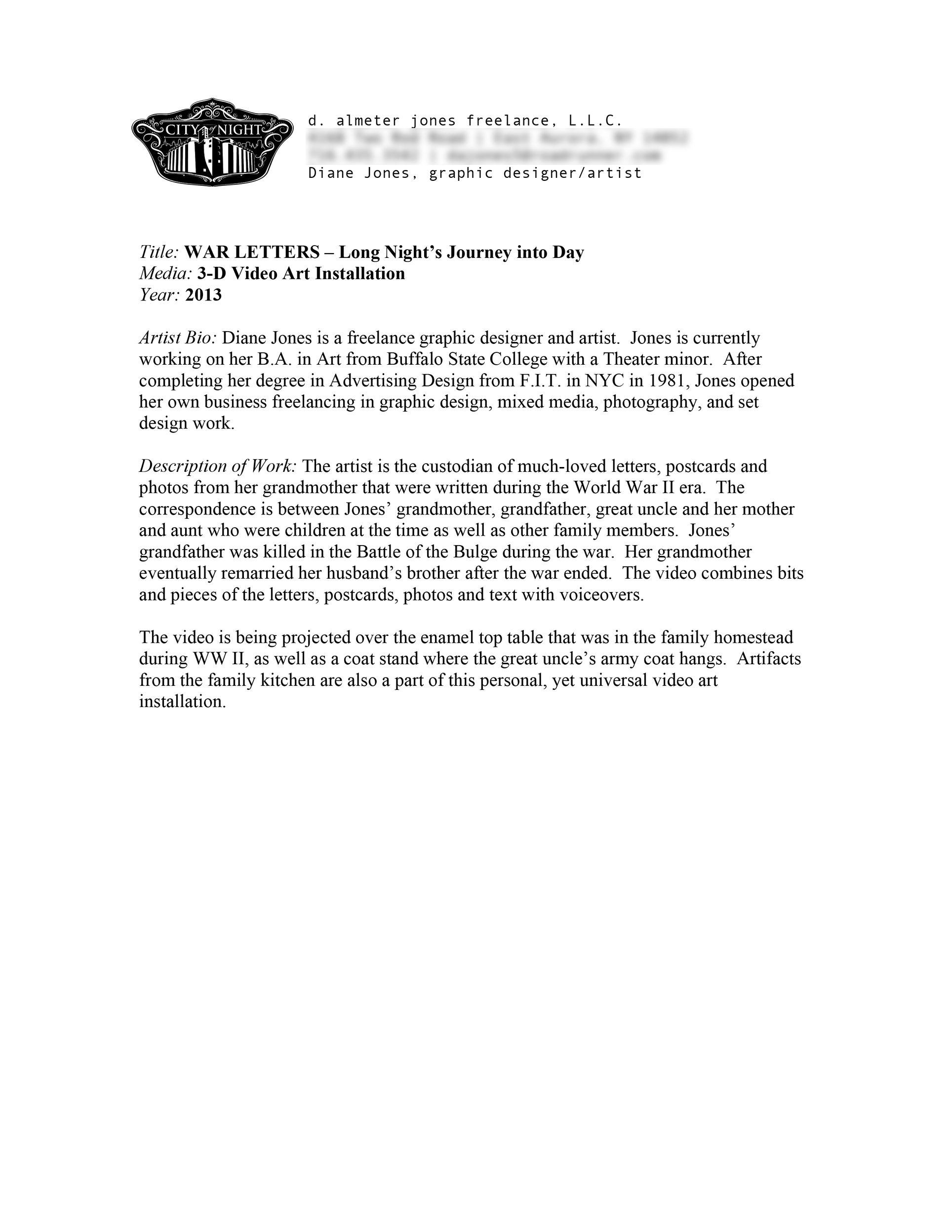 City of Night Buffalo Program Information