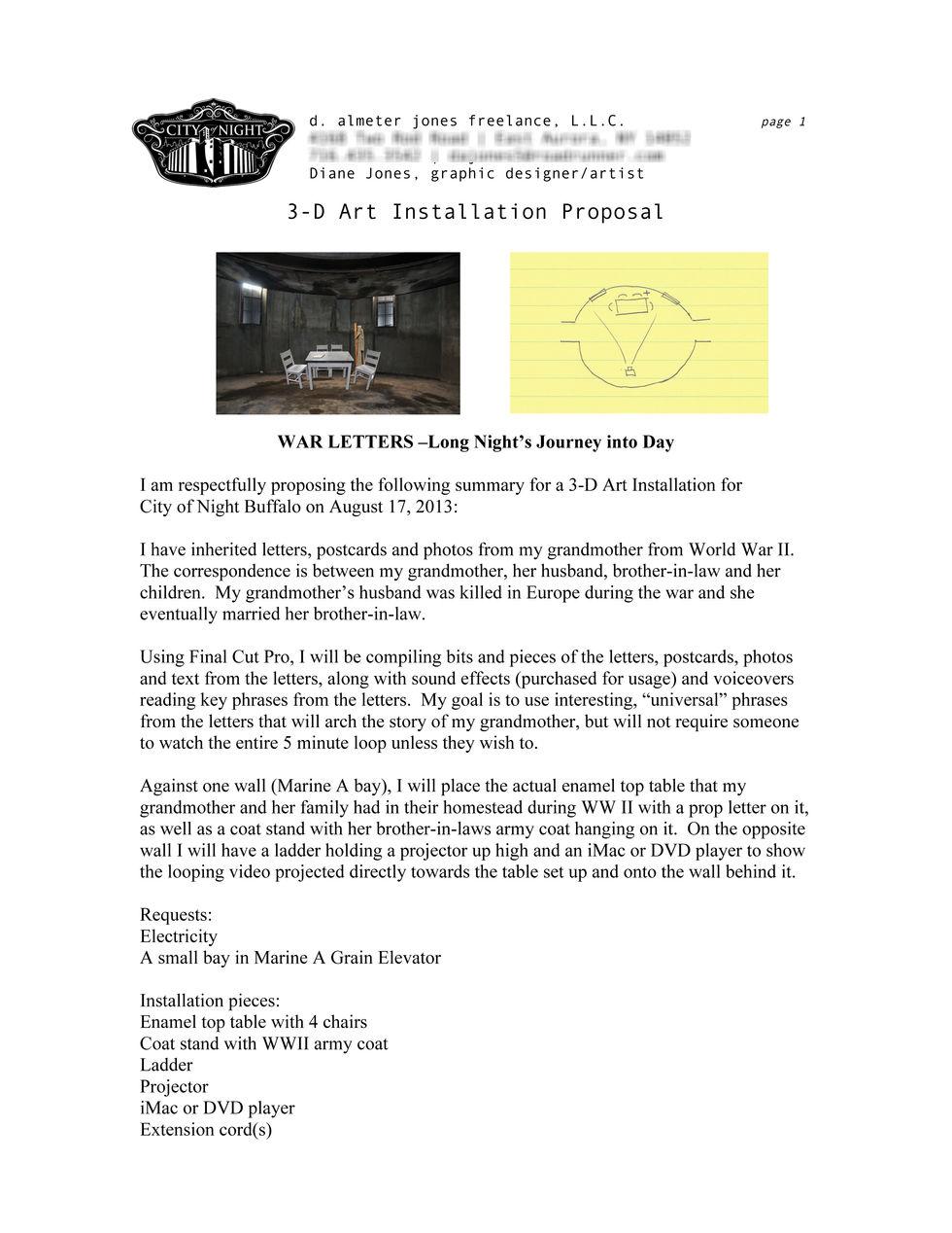 City of Night Buffalo Proposal
