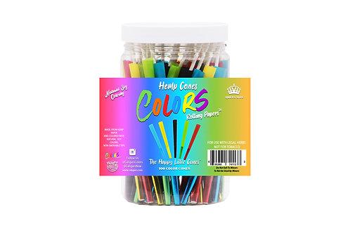 Colors- 100 Pack Hemp Cones