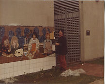 Footscray Secondary College wall mosaic